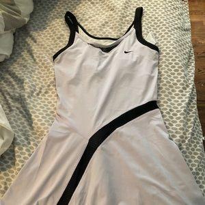 NIKE Sphere React Macro Lilac Black Tennis Dress